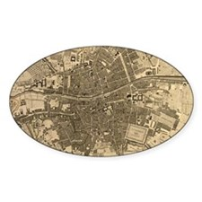 Vintage Map of Dublin Ireland (1797 Decal