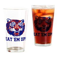 Eat 'em up, Tiger Drinking Glass