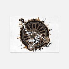 Motocross Stunt 5'x7'Area Rug
