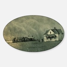 Texas Dust Storm Sticker (Oval)