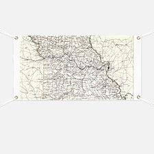 Vintage Map of Missouri (1883) Banner