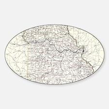 Vintage Map of Missouri (1883) Decal