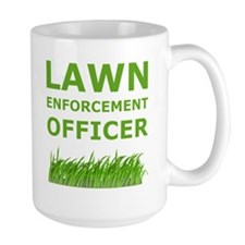 Lawn Officer Green Mugs