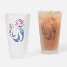 Unique Mermaid blue Drinking Glass
