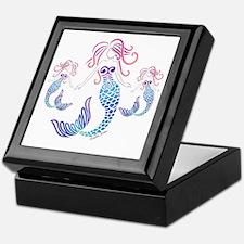 Unique Mermaid blue Keepsake Box