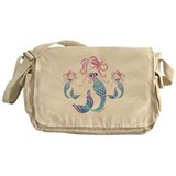 Tribal mermaid Canvas Messenger Bags
