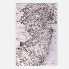 Vintage Map of New Jersey Postcards (Package of 8)