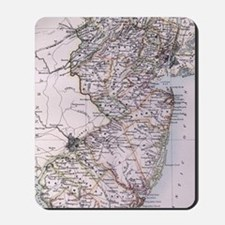 Vintage Map of New Jersey (1884) Mousepad