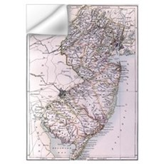 Vintage Map of New Jersey (1884) Wall Decal