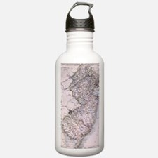 Vintage Map of New Jer Water Bottle