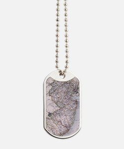 Vintage Map of New Jersey (1884) Dog Tags