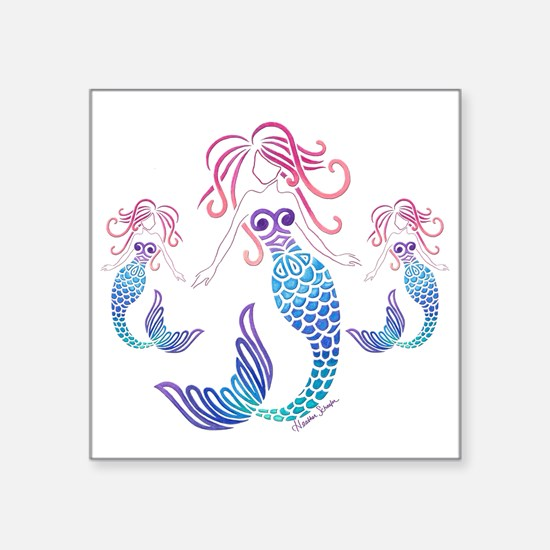 Mom And Daughters Tribal Mermaid Sticker