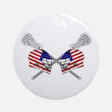 Two Lacrosse Helmets Ornament (Round)