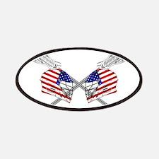 Two Lacrosse Helmets Patch