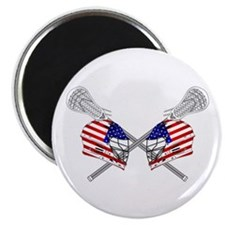 Two Lacrosse Helmets Magnets