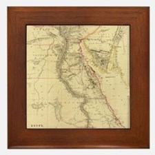 Vintage Map of Egypt (1832)  Framed Tile