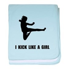 Kick Like A Girl baby blanket