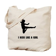 Kick Like A Girl Tote Bag