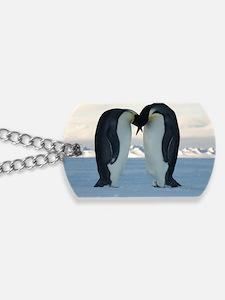 Emperor Penguin Courtship Dog Tags