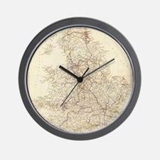 Vintage Map of England (1837) Wall Clock