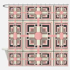 Art Deco Geometrics Shower Curtain