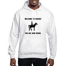 Horseback Riding Broke Hoodie