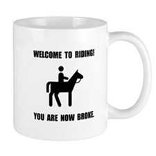 Horseback Riding Broke Mugs