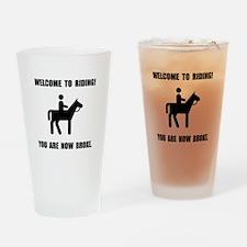 Horseback Riding Broke Drinking Glass