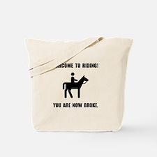 Horseback Riding Broke Tote Bag