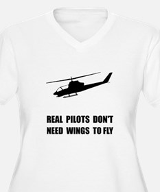 Helicopter Pilot Wings Plus Size T-Shirt