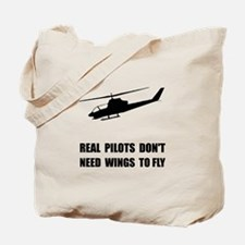 Helicopter Pilot Wings Tote Bag