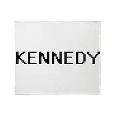 Kennedy digital retro design Throw Blanket