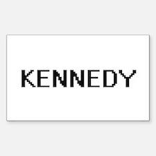 Kennedy digital retro design Decal