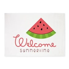 Welcome Summertime 5'x7'Area Rug