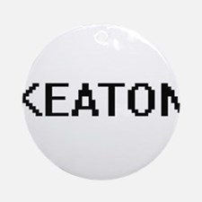 Keaton digital retro design Ornament (Round)