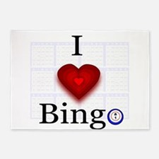 I love Bingo 5'x7'Area Rug