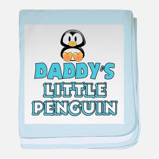 Daddy's Little Penguin baby blanket