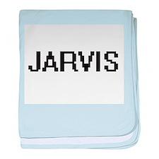 Jarvis digital retro design baby blanket