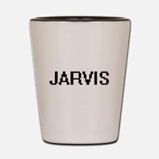 Jarvis digital retro design Shot Glass