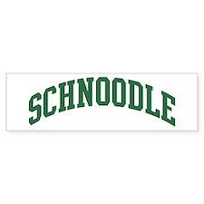 Schnoodle (green) Bumper Bumper Sticker