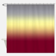 Red Clairton Shower Curtain
