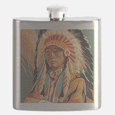 Indian Chief Flask