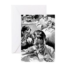 Retro Dental Prints Greeting Card