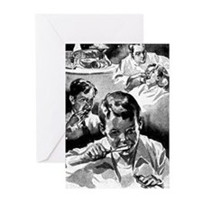 Retro Dental Prints Greeting Cards (Pk of 20)