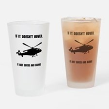 Helicopter Hover Drinking Glass