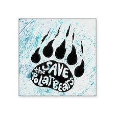 "Save Polar Bears Square Sticker 3"" x 3"""