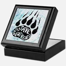 Save Polar Bears Keepsake Box