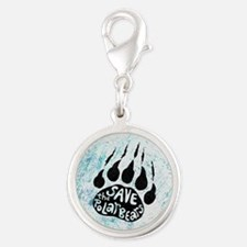 Save Polar Bears Silver Round Charm