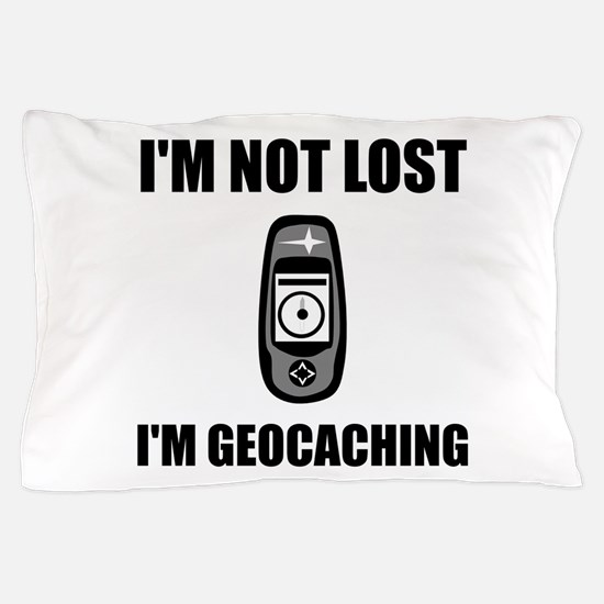 Geocaching Not Lost Pillow Case