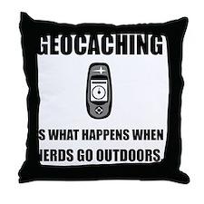 Geocaching Nerds Throw Pillow